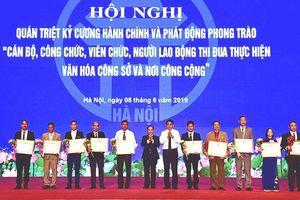 Hà Nội phát động phong trào 'CBCCVCLĐ thi đua thực hiện văn hóa công sở và nơi công cộng'