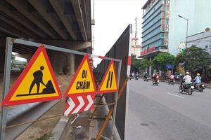 Hà Nội: Xén dải phân cách đường Vành đai 3 nút giao Giải Phóng - Ngọc Hồi