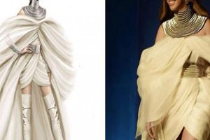 Diva Beyonce hóa thân thành nữ thần trong thiết kế của NTK Phương My