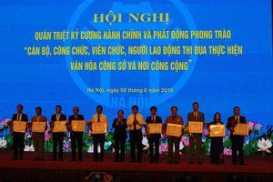 Hà Nội phát động thi đua thực hiện văn hóa công sở và nơi công cộng