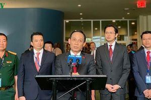 Thứ trưởng Lê Hoài Trung họp báo ngay sau khi Việt Nam trúng cử Hội đồng Bảo an