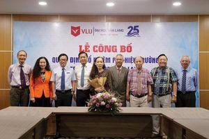 GS Trương Nguyện Thành làm Phó hiệu trưởng Trường ĐH Văn Lang
