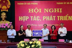 Thành phố Hà Nội và Hải Phòng hợp tác phát triển