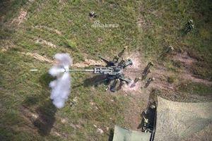 Cận cảnh lực lượng Phòng vệ Mặt đất Nhật Bản huấn luyện với siêu pháo Mỹ