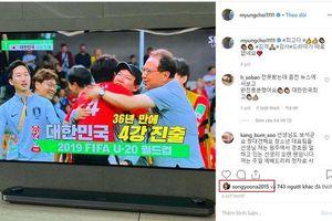 Jung Hae In cùng loạt sao chúc mừng Hàn Quốc vào bán kết U20 thế giới sau 36 năm