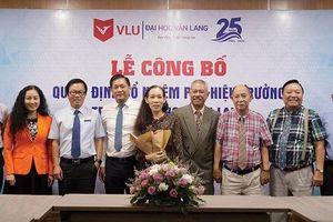 GS.TS. Trương Nguyện Thành 'quyết định chớp nhoáng' nhận vị trí Phó Hiệu trưởng Đại học Văn Lang