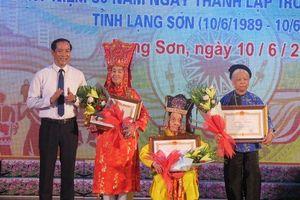 Lạng Sơn vinh danh các nghệ nhân dân gian