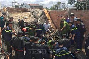 Gia Lai: Sập giàn giáo xây dựng, hai người thương vong