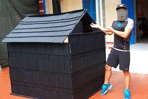 Youtuber Việt gây tranh cãi vì xây nhà bằng 5.000 ống hút nhựa