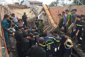 Sập giàn giáo công trình xây dựng, 1 người thiệt mạng
