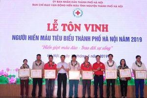 Hà Nội: Tôn vinh người hiến máu tiêu biểu năm 2019