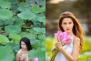Chụp ảnh ở hồ sen: 'Nàng Tây chụp thấy mê, nàng Việt chụp nude thấy phản cảm!'