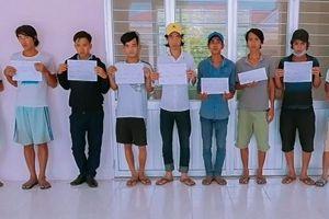 Vĩnh Long: Bắt 11 đối tượng 'phê' ma túy đá