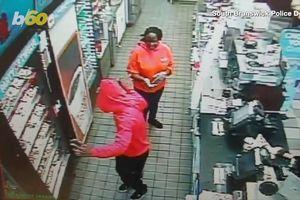 Tên trộm vừa nhún nhảy vừa ngang nhiên ăn trộm bánh donut