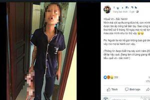 Bắc Ninh: Làm rõ thông tin nghi người mẹ xăm trổ xách con nhỏ vài tháng tuổi trên tay