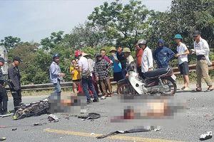 Xe máy đấu đầu xe tải, hai thanh niên tử vong tại chỗ