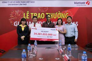 Cần Thơ: Thêm một khách hàng trúng Vietlott trị giá 34 tỷ đồng