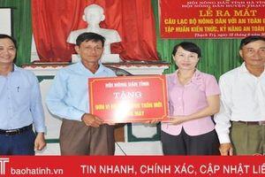 Ra mắt CLB nông dân với an toàn giao thông ở vùng biển ngang Thạch Hà