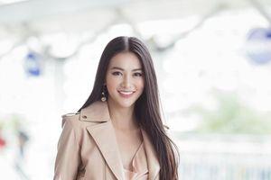 Đi chấm thi Miss Earth Singapore, Hoa hậu Phương Khánh đẹp như thần Vệ Nữ làm náo loạn sân bay