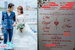 Ngày mai kết hôn, Cris Phan vẫn thản nhiên 'khẩu nghiệp' với vợ không kiêng dè