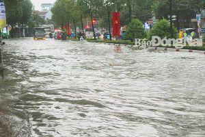 Biên Hòa vẫn còn nhiều điểm ngập