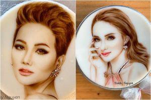 Bánh rau câu họa chân dung như tranh nghệ thuật của người phụ nữ đam mê cái đẹp