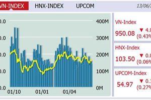 VN-Index tiếp tục giảm, xuống còn 950,08 điểm