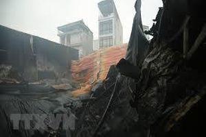 Khống chế vụ cháy tại Khu công nghiệp Thụy Vân, Phú Thọ