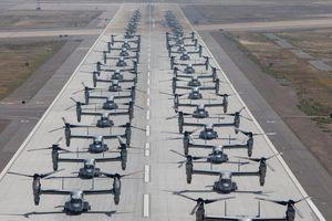 40 trực thăng Thủy quân lục chiến Mỹ phô diễn kỹ thuật 'voi đi bộ'