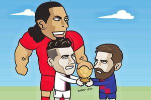 Hí họa Ronaldo, Messi lép vế trước Van Dijk ở cuộc đua Quả bóng vàng
