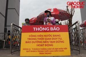 Công viên nước Thanh Hà dừng hoạt động, nhiều người dân vẫn tìm đến