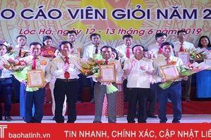 22 thí sinh tham gia Hội thi Báo cáo viên giỏi huyện Lộc Hà năm 2019