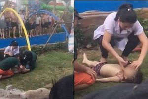 Bé trai 4 tuổi bị đuối nước tại công viên nước Thanh Hà đã tử vong