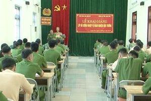 Khai giảng lớp bồi dưỡng nghiệp vụ khám nghiệm hiện trường
