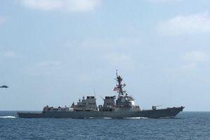 Mỹ điều tàu chiến tên lửa dẫn đường đến điểm nóng trên vịnh Oman