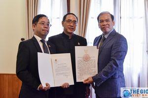 Tổng Lãnh sự Thái Lan tại TP. HCM nhận Giấy chấp nhận lãnh sự