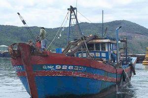 Bắt một tàu giã cào đang hành nghề trên vùng biển Thừa Thiên - Huế