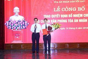 Trao quyết định bổ nhiệm Phó Chánh Văn phòng TANDTC