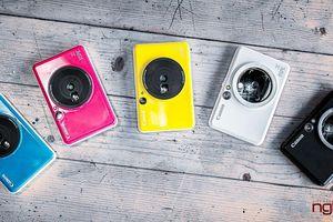Trên tay bộ đôi mẫu máy ảnh chụp lấy liền Canon iNSPIC giá từ 4,2 triệu