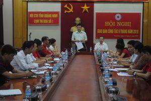 Cụm thi đua số 1 Hội Chữ thập đỏ tỉnh Quảng Ninh hỗ trợ gần 17 nghìn lượt người trong 6 tháng
