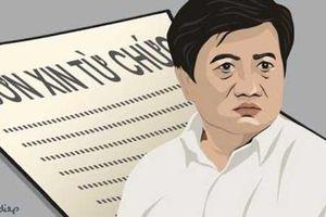 Đơn từ chức của ông Đoàn Ngọc Hải được gửi cho bảo vệ Tổng công ty