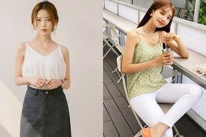 Các tips diện áo hai dây mùa hè vừa trendy lại chẳng sợ phản cảm