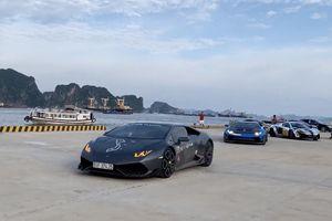 Đoàn siêu xe 300 tỷ tập kết tại bến du thuyền Hạ Long