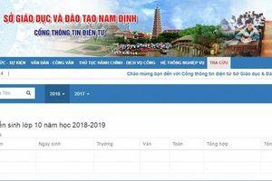 Cách tra cứu điểm thi vào lớp 10 năm 2019 Nam Định