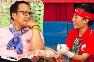 Người đàn ông Thái Lan hiến máu lần thứ 48 tại 'Giọt hồng đất Kiên Giang'