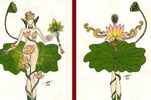 Thiết kế quốc phục lấy hoa sen che phần nhạy cảm… phỉ báng cái đẹp!