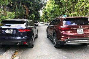 Hyundai SantaFe 'chạm mặt' Jaguar F-Pace trùng biển kiểm soát