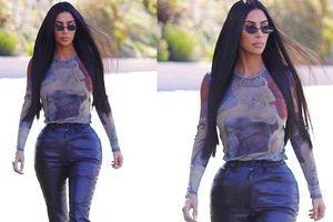 Vòng 3 ngoại cỡ của Kim Kardashian lại gây tranh cãi: Body đồng hồ cát tiêu chuẩn hay càng nhìn càng dị?
