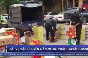 Bắt vụ vận chuyển gần 300 kg pháo tại Bắc Giang