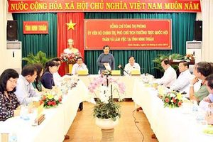 Phó Chủ tịch Thường trực Quốc hội Tòng Thị phóng thăm và làm việc tại Ninh Thuận